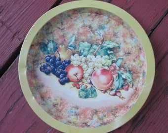 Vintage Tin Tray - Daher Decorated Ware - Yellow Fruit Bowl