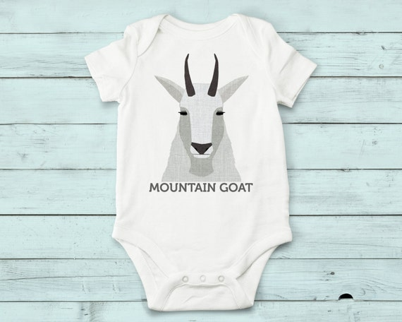 Mountain Goat- onesie, baby girl, baby boy, baby gift, baby girl clothes, baby boy clothes, baby onesie, cute onesies, infant bodysuit, baby