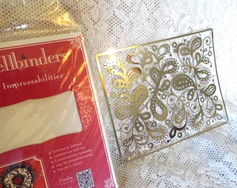Spellbinders Impressabilities Template, Emboss/Deboss, Paisley Pattern