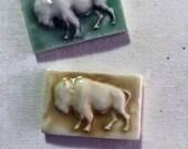 Mosaic Ceramic Tile Porcelain Bison Buffalo
