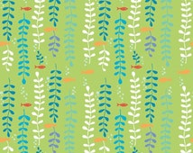 SALE Under the Sea Kelp Forest from Monaluna Fabrics organic cotton quilt fabric