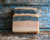 Limited Edition Goat's Milk Soap, Carnation and Activated Charcoal Soap, Carnation Soap, Goat's Milk Soap, Made in Montana
