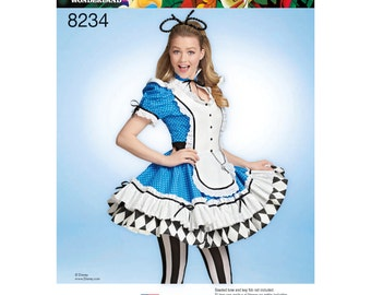 Simplicity Pattern 8234-Lolita Alice in Wonderland Costume Size 6-14
