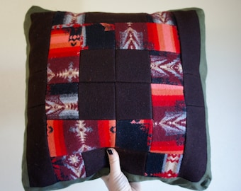 SAMPLE///Vintage Military Canvas and Oregon Wool Pillow