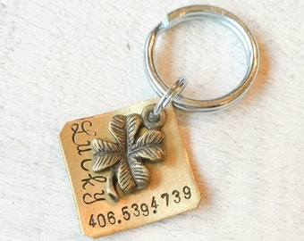 Not all dog tags are created equal. Pet id tags handcrafted in Bozeman, Montana personalized to your custom request. Lucky Charm Tag