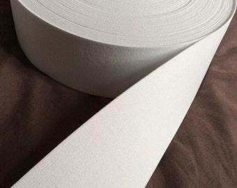 white elastic, 2 1/2 inch wide