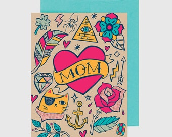 Mother's Day Card - Mom Tattoo