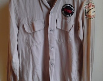 Vintage 50's Rayon Gabardine Loop Top Shirt