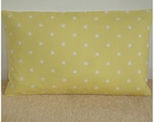 "20x36 King Pillow Sham Long 36"" x 20"" Yellow and White Polkadot Modern Oblong Bolster Case Cushion Cover Pillowcase King Pillow Polka Dots"