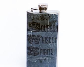 BOURBON FLASK - Flask, 5oz. Flask, NY Flask