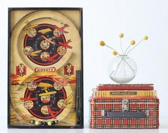 Vintage Airways Pinball, Airplane Aviator Game, Lindstrom Toy Co.