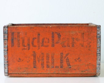 Vintage Hyde Park Milk Crate, Orange