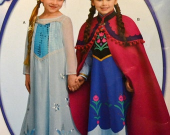 Sewing Pattern Simplicity 0733 Frozen Costume Girls' Dresses Size 3-8  Uncut Complete FF
