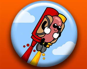 Super Dog - Button / Magnet / Bottle Opener / Pocket Mirror / Keychain - Sick On Sin