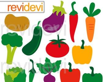 Vegetables clipart - Healthy food clipart - vegetable digital clip art - instant download - commercial use