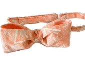 Mens Cotton Bow Tie , Orange/Peach/Tangerine , Pretied Clip-On or Adjustable , Gift for Him , Mens Spring/Easter Accessories , Mens Neckwear
