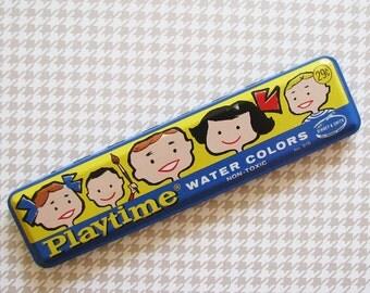 Playtime...Fun Vintage Watercolor Paint Box