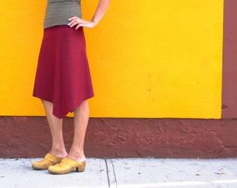 Wool Skirt, Womens Skirt, Winter Skirt, Bohemian Skirt, A Line Skirt, Casual Skirt, Office Skirt, Red Skirt, Maternity Skirt, Organic Bamboo