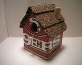 San Francisco 49ers License Plate Birdhouse