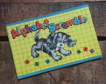 Vintage Unused Saalfield Activity Coloring Book - Alphabet Scramble