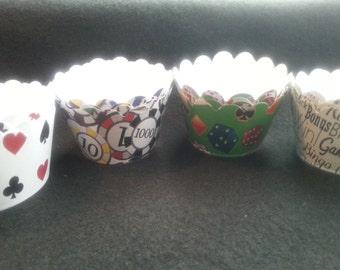 Custom Casino Cupcake Wrappers