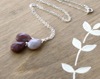 Stress Relief Necklace . Calming Jewelry . Red Gemstone Necklace . Red Agate Pendant Necklace . Natural Gemstone Necklace - Eire Collection