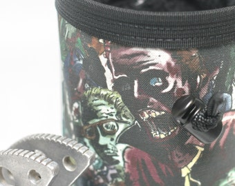 Zombie Apocalypse, Hand Crafted Chalk Bag, Rock Climbing