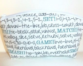 Tennis - Zippered Pouch - Tennis Team Gifts