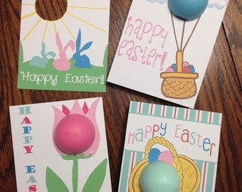 Easter teacher gift etsy easter cardsgift tags for eos lip balm printable instant download teacher negle Images