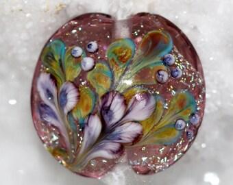 Handmade floral focal lentil bead by joycelo
