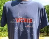 vintage 80s t-shirt CORNELL university VET medical school ivy league tee XL Large veterinarian