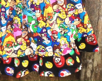 Super Mario brothers skirt, flirty geek skirts, cosplay skirts,  Princess peach ,plus size skirts, short geeky skirts, custom cosplay skirts