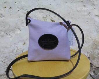 Mauve Leather Shoulder Bag