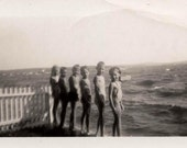 Original vintage photo lot of 30 snapshots 1940s 50s kids swimming and more