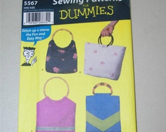 Simplicity Soft Bags Sewing Patterns for Dummies Pattern 5567 11861