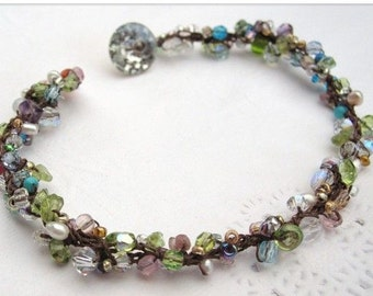 Spring Bloom Crocheted bracelet
