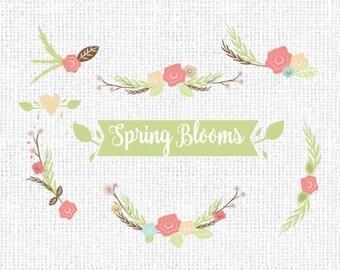 Spring Blooms Floral Clip art