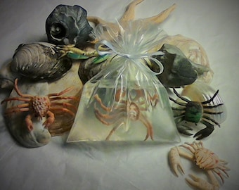 Crab in a Bag Soap, Beach party favor, Pool party favor, Under The Sea Party favor, Beach Wedding favor, Ocean Theme party, Mermaid Party