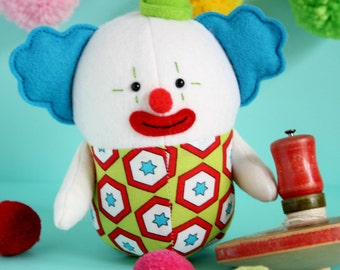 Clown : clown sewing pattern, clown toy, clown doll, circus sewing,clown PDF, cute clown