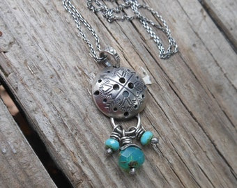 Essential Oil Diffuser Necklace - Teal Blue