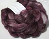 hand-dyed fiber - Double Merino/Silk Fiber - Boudoir colorway
