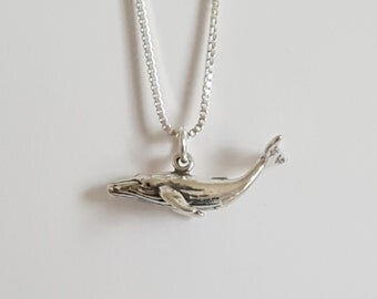 20% OFF - SUMMER CLEARANCE  Sterling Silver Whale Necklace