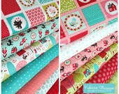 Red Riding Hood Fabric, Little Red fabric, Stacy Eist Hsu, Novelty fabric, Kids fabric, Fairy Tale, Choose the Cut, Fabric bundle of 13