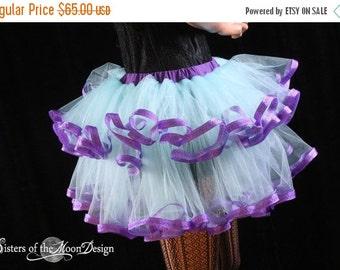 SALE Adult tutu skirt Fairy little ruffles costume dance bridal wedding prom race run aqua purple - Ready to Ship - Small - Sisters of the M