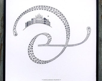 Cancellaresca Milanese letterpress ampersand print