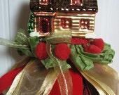Handmade Christmas Tassel Home Decor Ornament Gift Glass