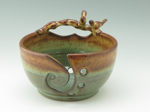 Pottery Yarn Bowl Ceramic Knitting Bowl for by TwistedRiverClay