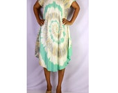 Women Maxi Gypsy Boho Hippie Summer Beach Tie Dye Rayon Comfy Dress (TD 23)