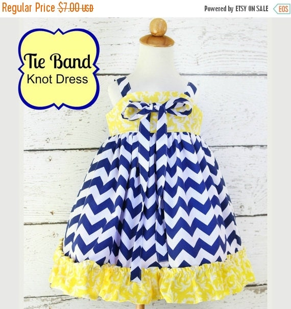 SALE Tie Band Knot Top or Dress sizes nb through 12 girls PDF Whimsy Couture Sewing Pattern Tutorial