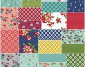 "SALE 40% Off SQ88 Windham DIXIE Precut 5"" Charm Pack Fabric Quilting Cotton Squares Allison Harris Cluck Cluck Sew"